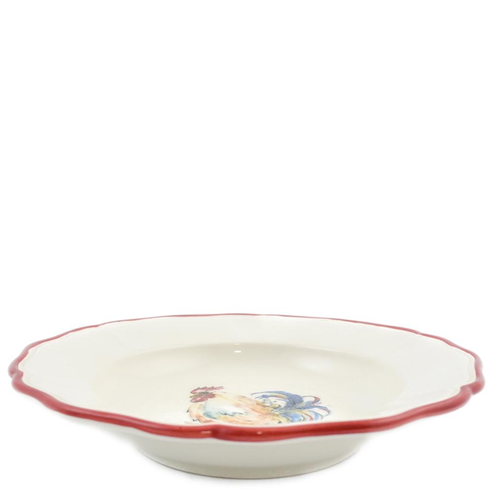 Набор тарелок для супа Villa Grazia Петушки на 6 персон
