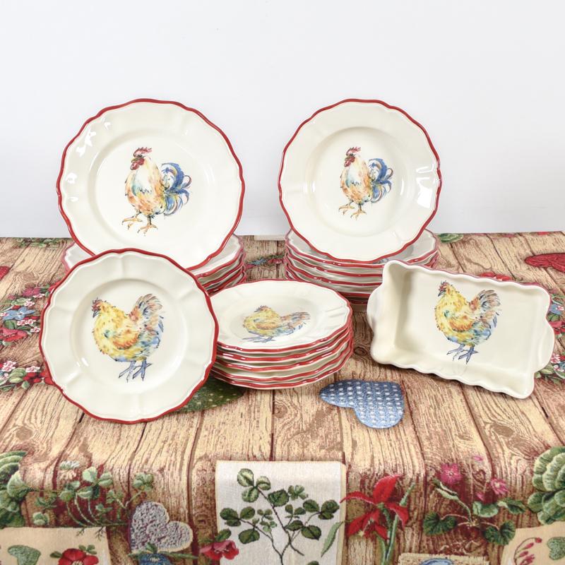 Тарелка обеденная Villa Grazia Петушки 28см