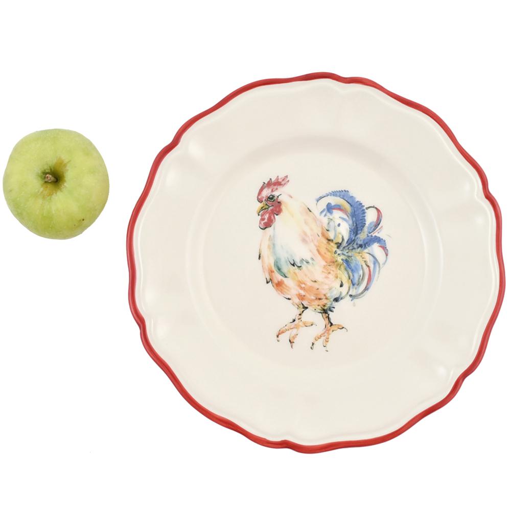 Набор обеденных тарелок Villa Grazia Петушки на 6 персон