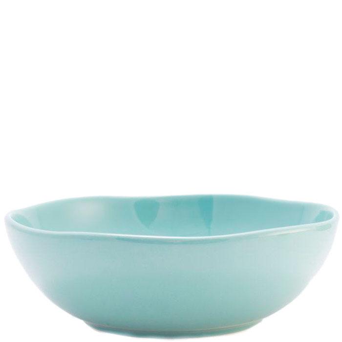 Керамический салатник Comtesse Milano Ritmo бирюзового цвета