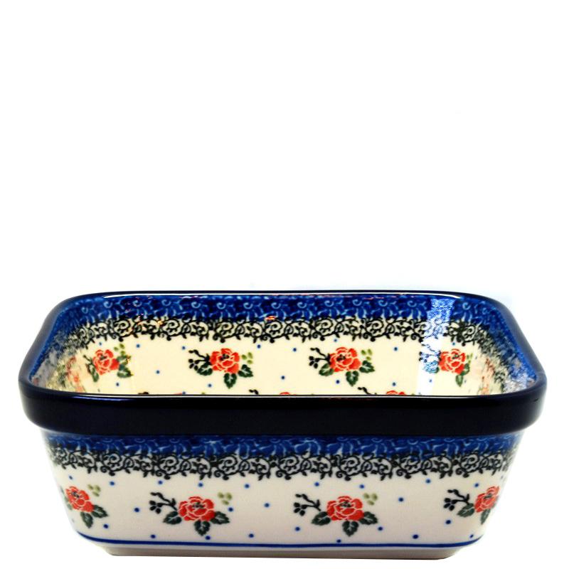 Салатник Ceramika Artystyczna Чайная роза квадратный