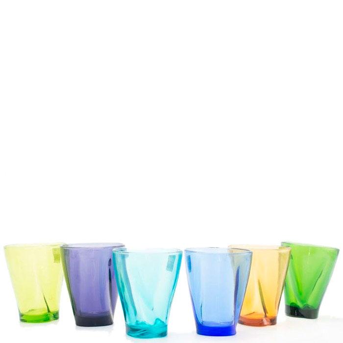 Набор цветных стаканов Comtesse Milano Lui&Lei