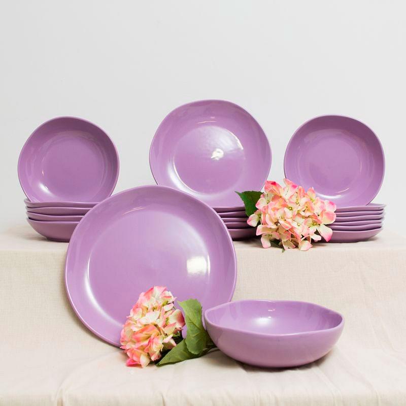 Десертная тарелка Comtesse Milano Ritmo фиолетового цвета