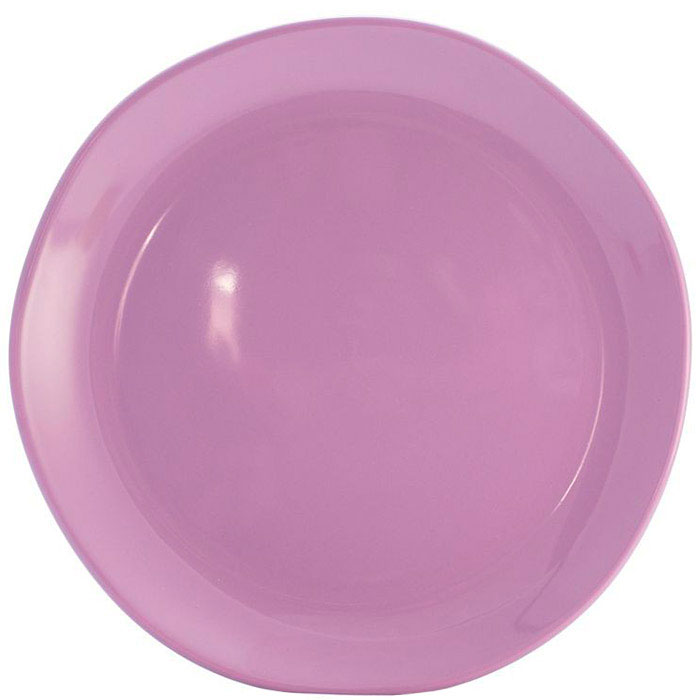 Круглое блюдо Comtesse Milano Ritmo цвета лаванды