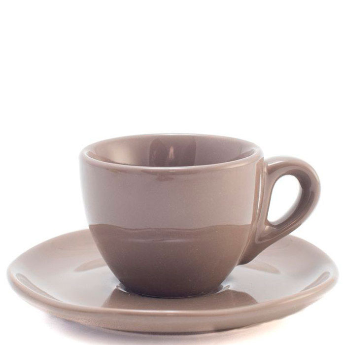 Набор кофейных чашек с блюдцами Comtesse Milano Ritmo коричневого цвета