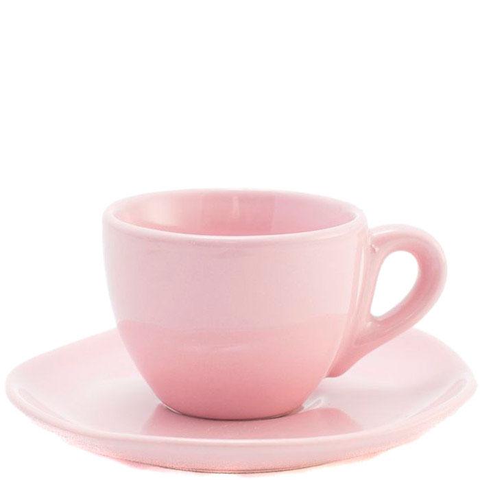 Набор кофейных чашек с блюдцами Comtesse Milano Ritmo розового цвета