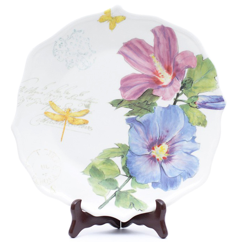 Тарелка обеденная Bizzirri Гортензия