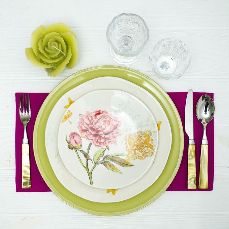 Десертная тарелка Bizzirri Гортензия