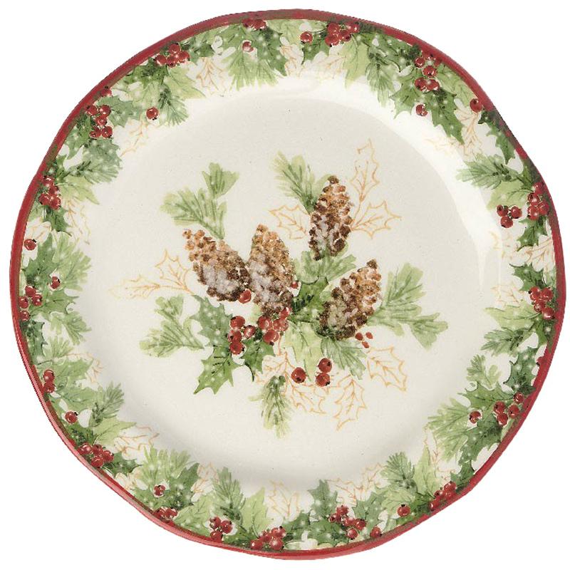 Тарелка десертная Bizzirri Символы Рождества