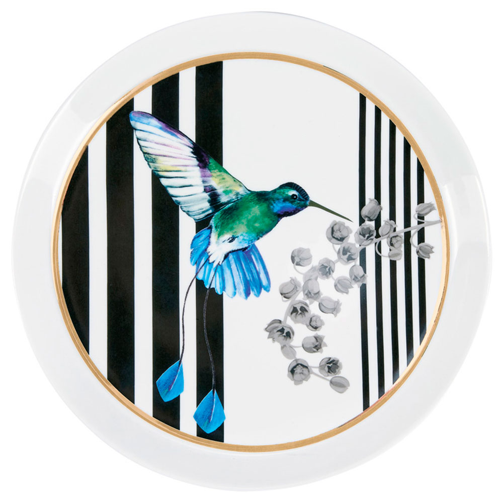 Тарелка Miss Etoile с изображением колибри