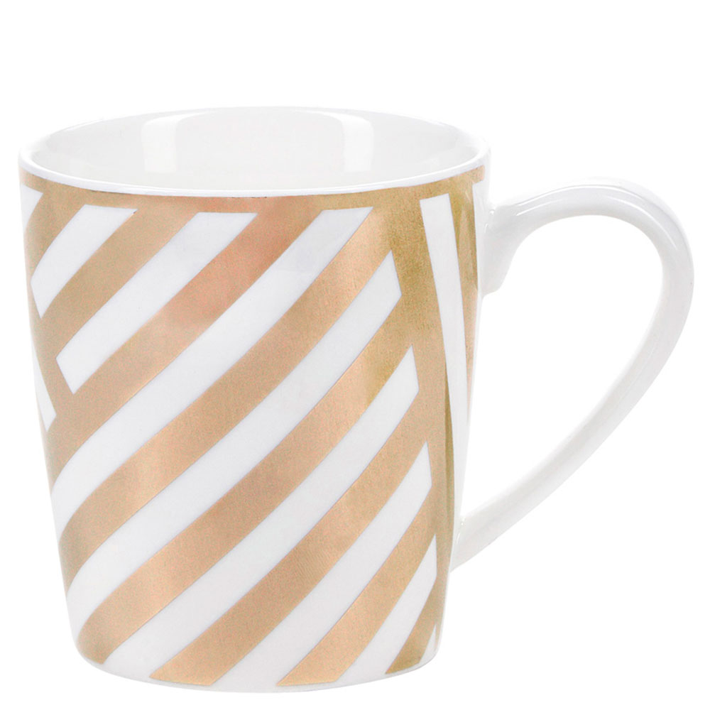 Чашка Miss Etoile с золотистыми полосками