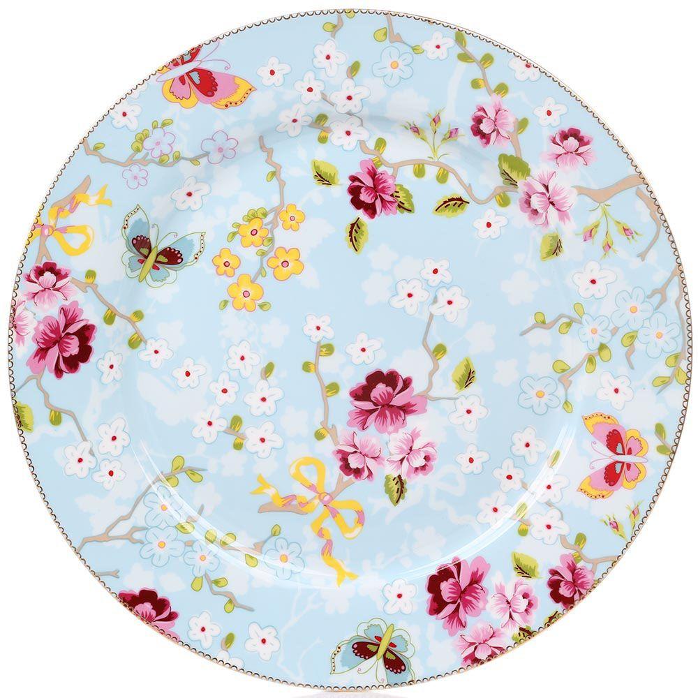 Блюдо Pip Studio Floral диаметром 32 см с цветочным принтом