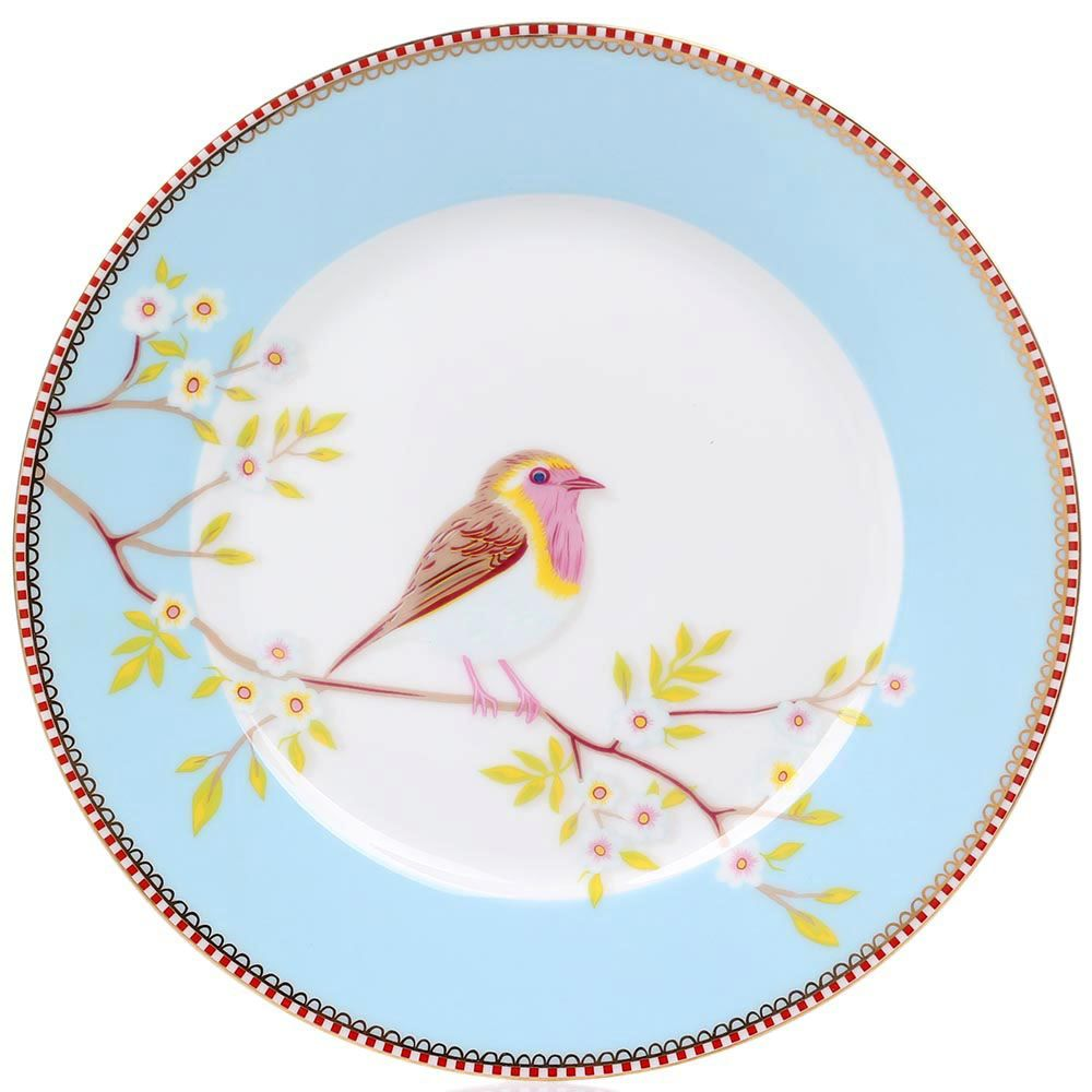 Тарелка Pip Studio Floral диаметром 21 см голубая