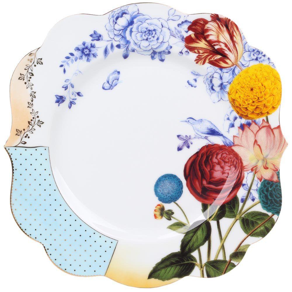 Большая тарелка Pip Studio Royal с разноцветным растительным принтом