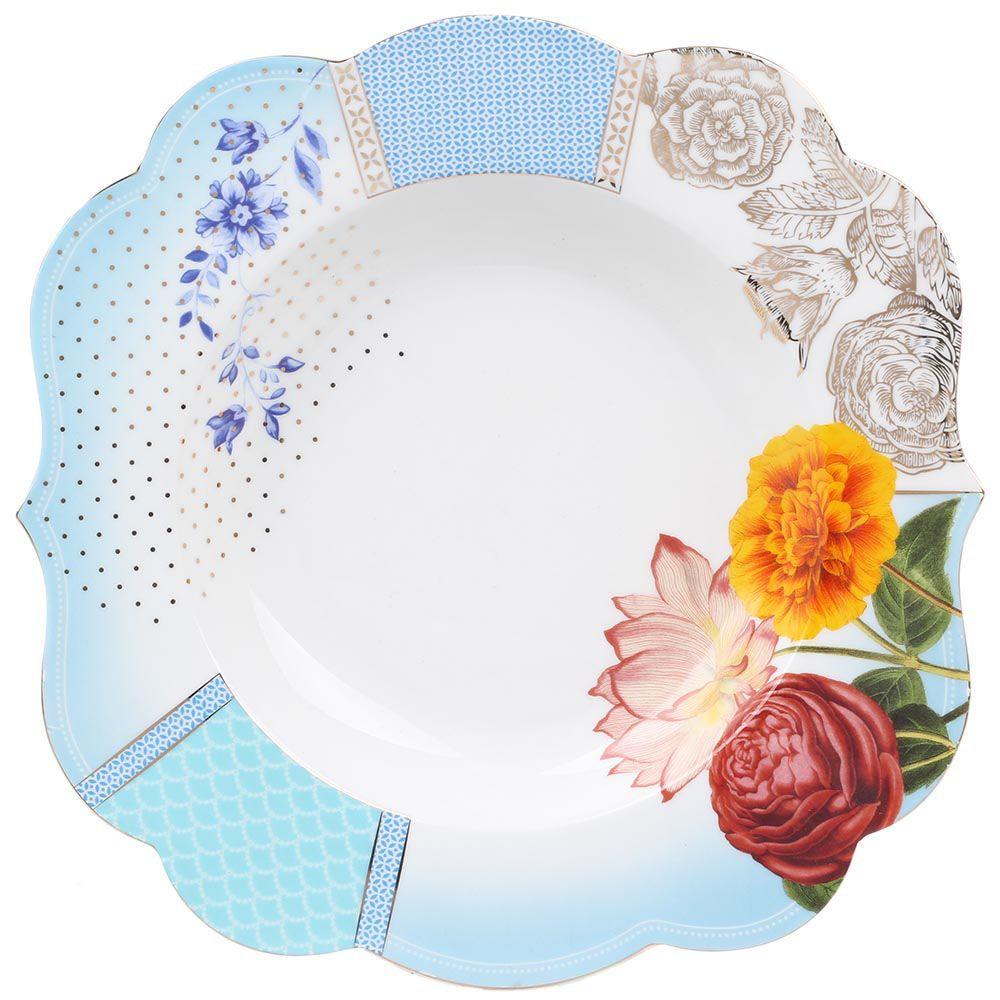 Большая тарелка Pip Studio Royal диаметром 28 см голубая