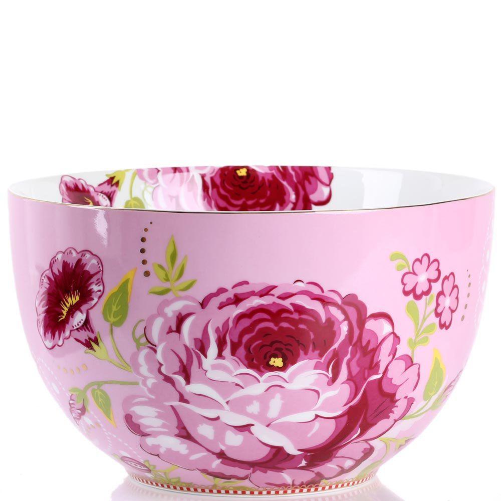 Большая пиала Pip Studio Floral розовая