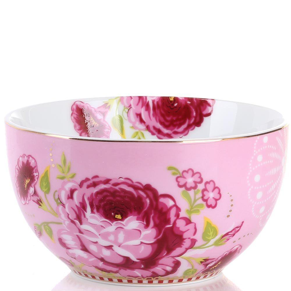 Маленькая пиала Pip Studio Floral розовая с цветочным принтом