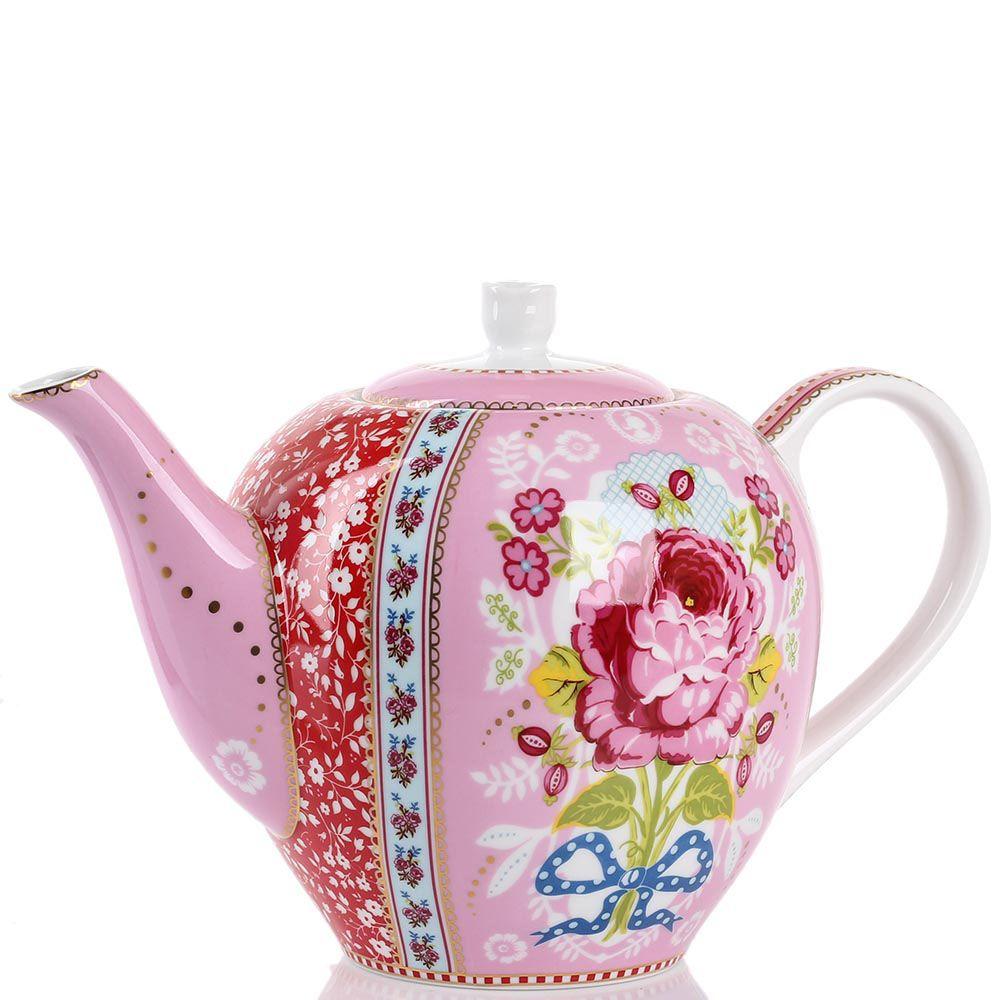 Чайник Pip Studio Floral розовый 1.6 л