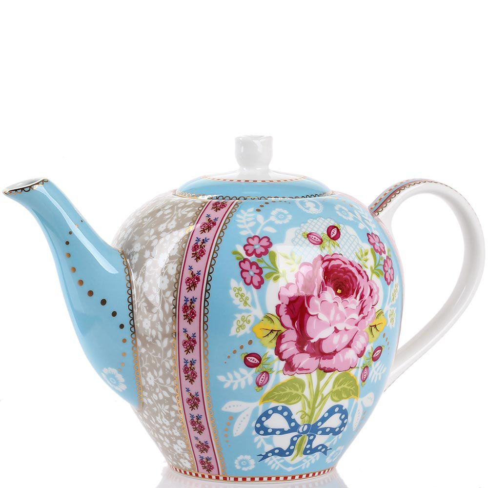 Чайник Pip Studio Floral голубой 1,6 л