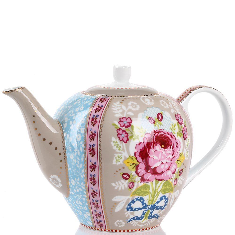 Чайник Pip Studio Floral светло-коричневый 1,6 л