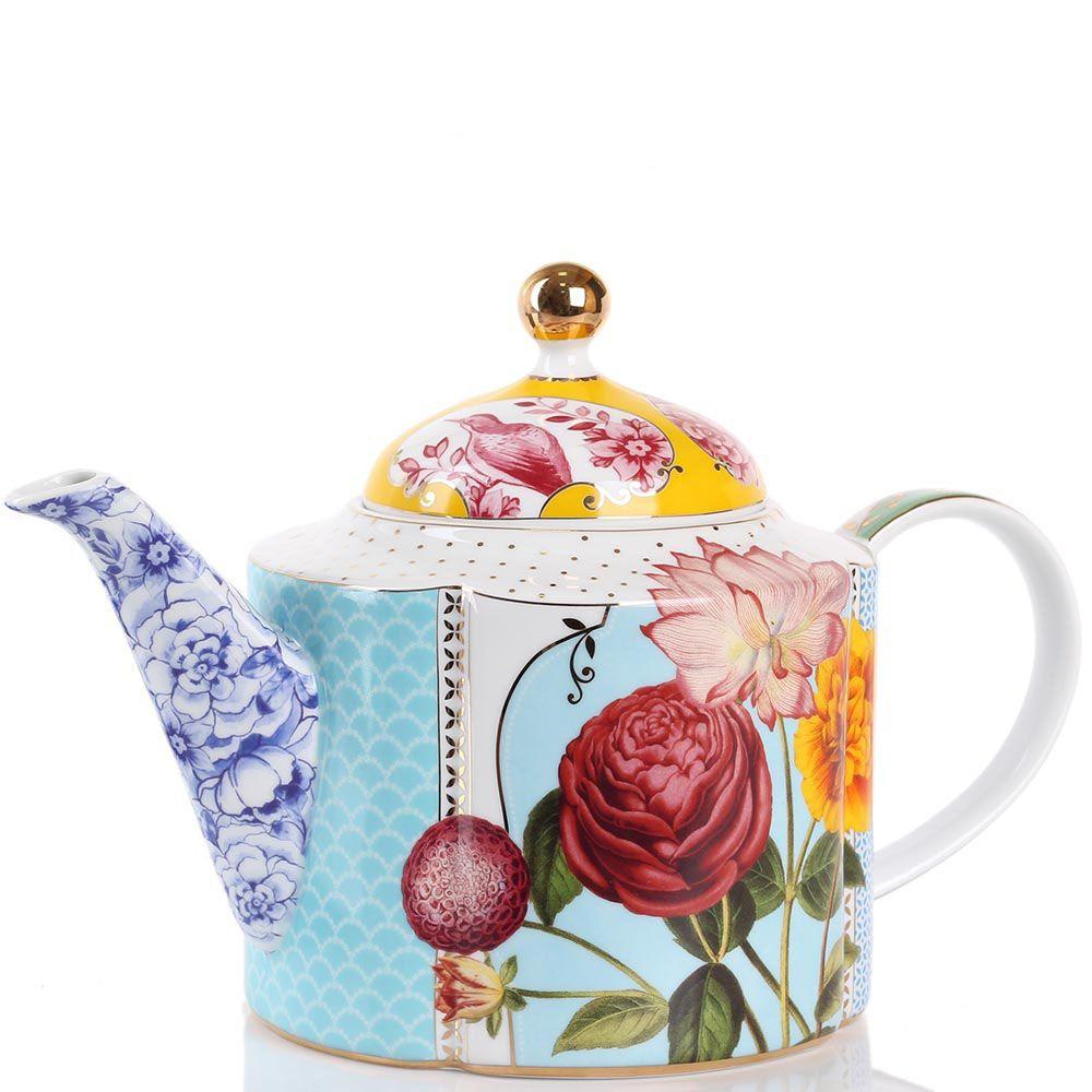Чайник Pip Studio Royal фигурный с цветочным принтом 1.6 л