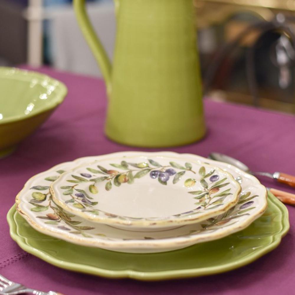 Тарелка для десерта Villa Grazia Оливы и маслины 21см