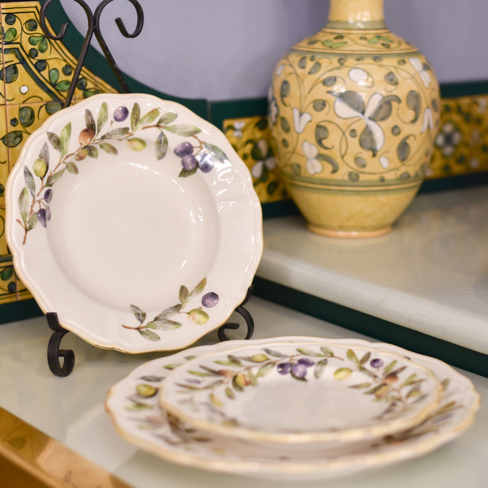Тарелка для супа Villa Grazia Оливы и маслины 23см