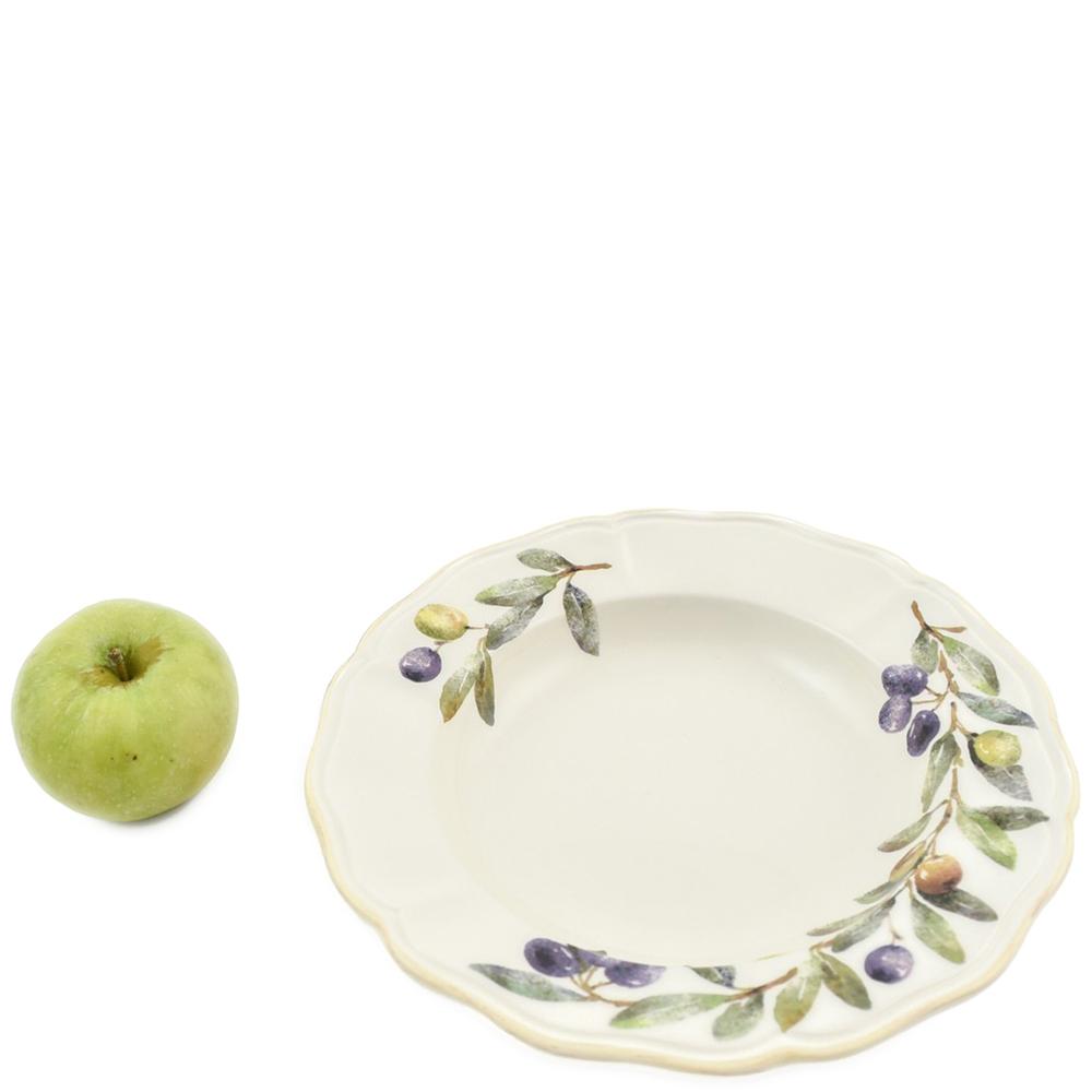Набор тарелок для супа Villa Grazia Оливы и маслины на 6 персон