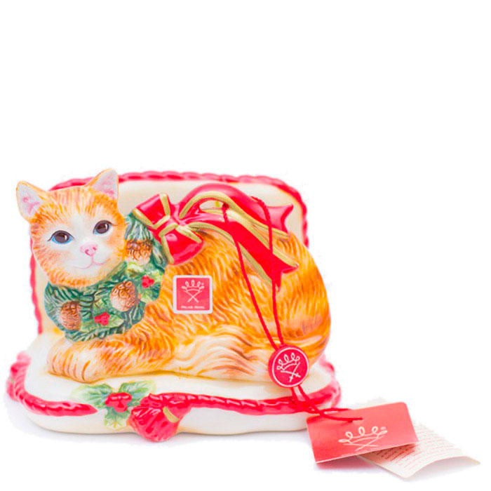 Новогодняя салфетница Palais Royal Нарядный котенок