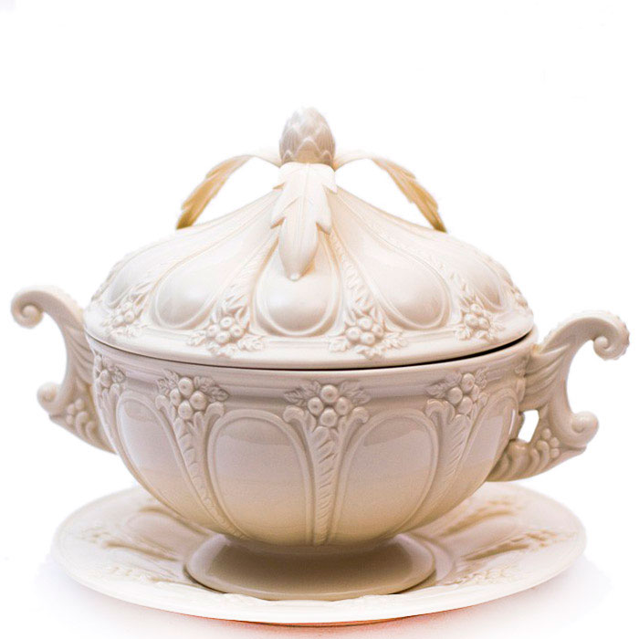 Супница с блюдом Palais Royal Crema