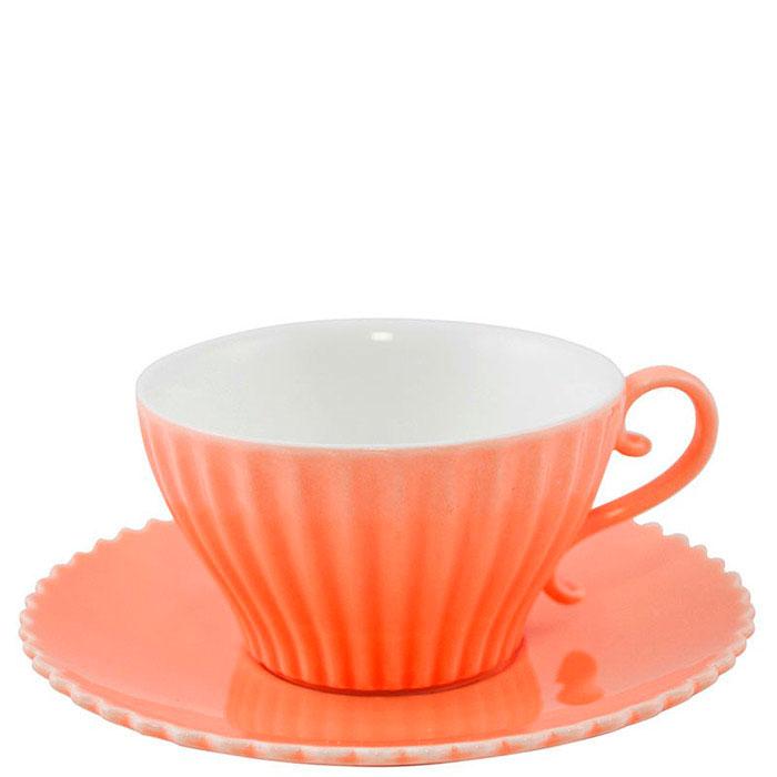Чашка с блюдцем для кофе Palais Royal Зефир оранжевого цвета