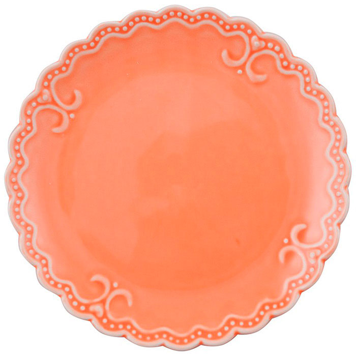Десертная тарелка Palais Royal Зефир оранжевого цвета