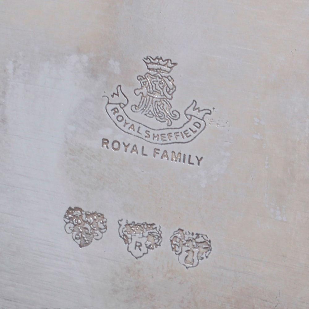 Блюдо на ножках Royal Family Шеффилд с посеребрением