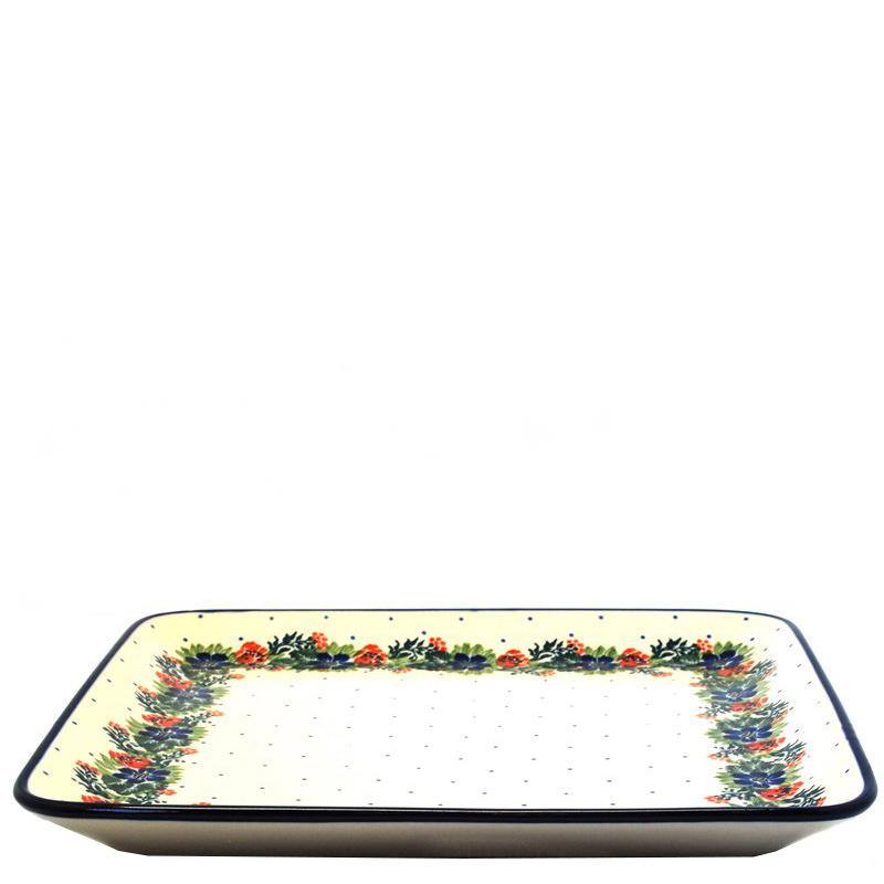 Блюдо Ceramika Artystyczna Лесной веночек квадратное