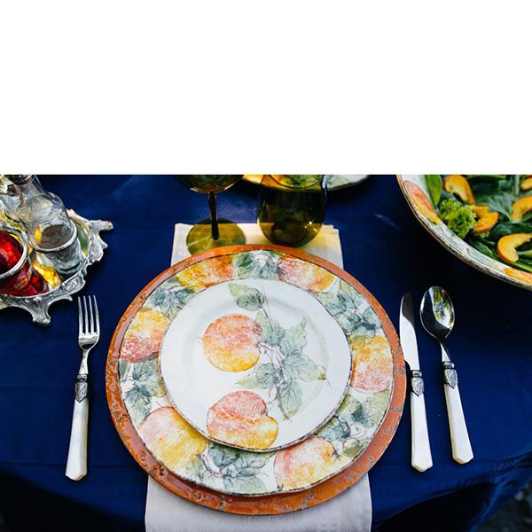 Тарелка для салата Bizzirri Персики