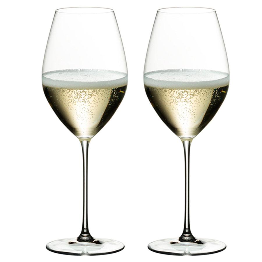 Два хрустальных бокала Riedel Veritas для шампанского