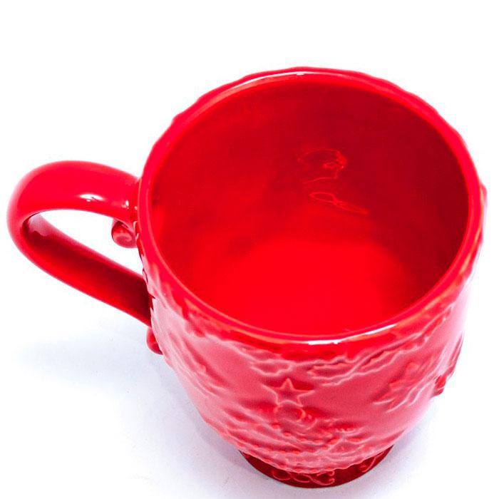 Красная чашка Bordallo Pinheiro Рождество