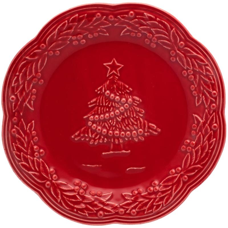 Десертная тарелка Bordallo Pinheiro Рождество