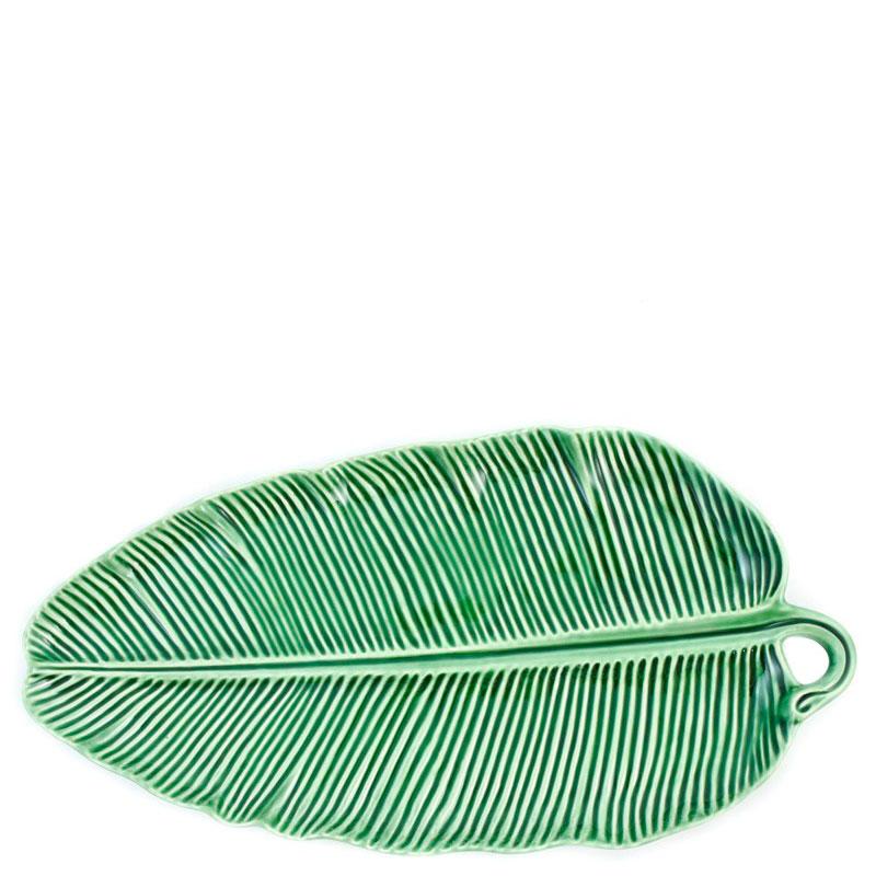 Блюдо зеленого цвета Bordallo Pinheiro Банановый лист