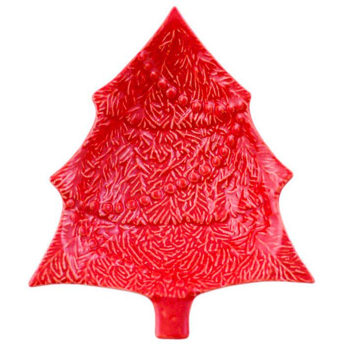 Новогоднее блюдо для закусок в виде елки Bordallo Pinheiro Рождество 18,5x15,5см