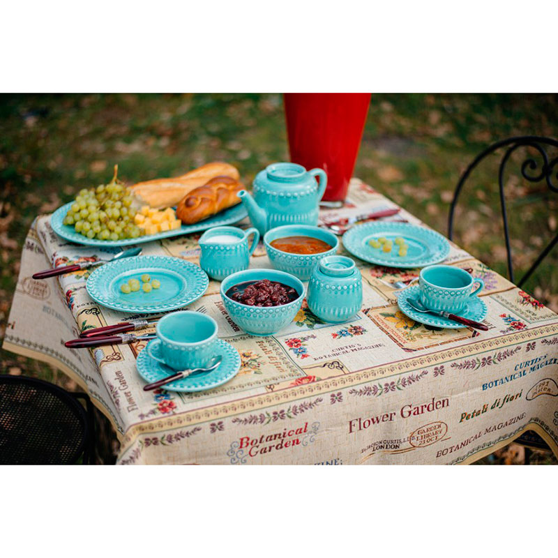Десертная тарелка Bordallo Pinheiro Фантазия бирюзового цвета