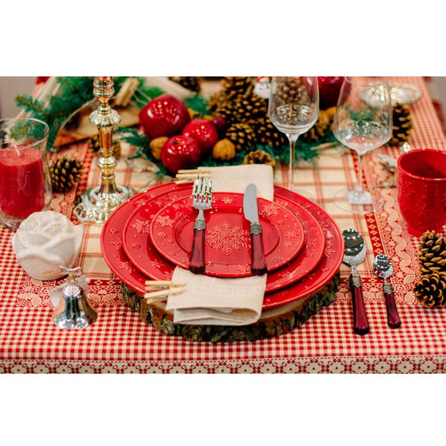 Набор десертных тарелок на 6 персон Bordallo Pinheiro Снежинки 22см
