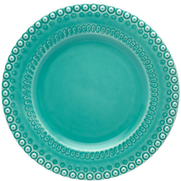 Тарелка Bordallo Pinheiro Фантазия цвета морской волны