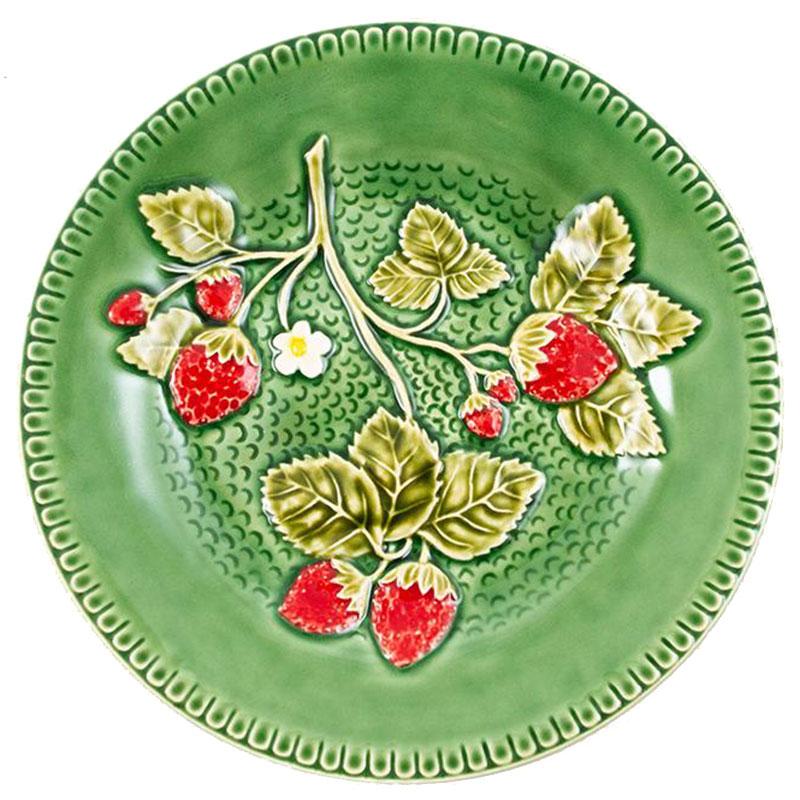 Тарелка десертная Bordallo Pinheiro Клубника 20см