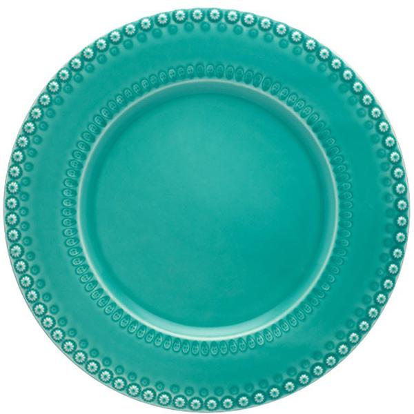 Тарелка подставная Bordallo Pinheiro Фантазия бирюзового цвета