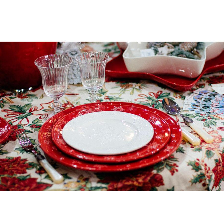 Десертная тарелка Bordallo Pinheiro Снежинки белого цвета 22x2см