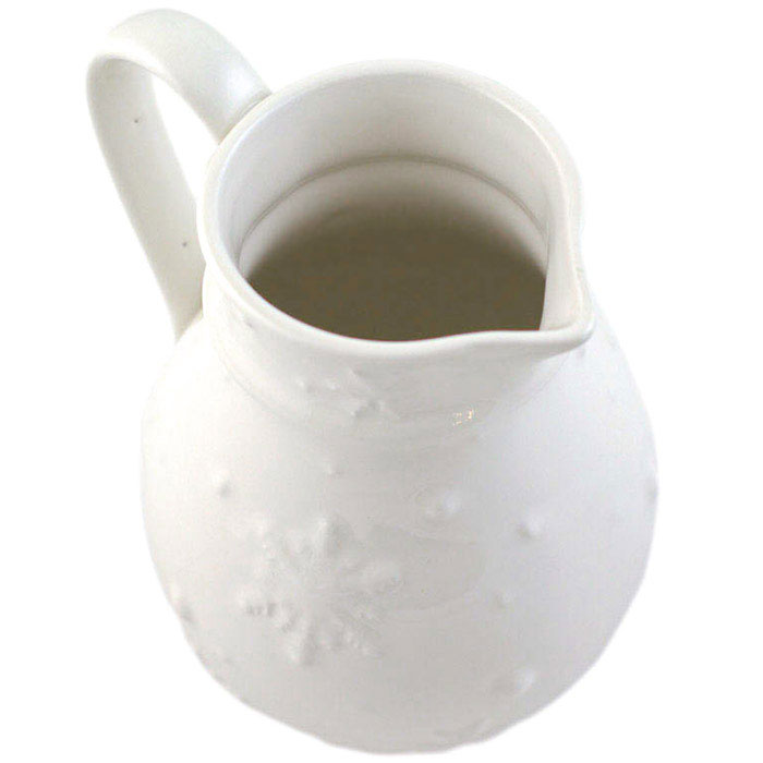 Кувшин белого цвета Bordallo Pinheiro Снежинки