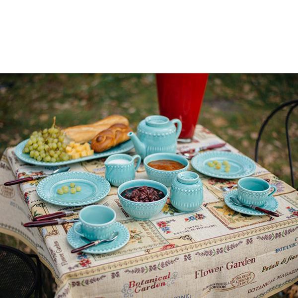 Пиала для супа Bordallo Pinheiro Фантазия голубого цвета