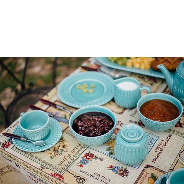 Набор из 6 пиал для супа Bordallo Pinheiro Фантазия голубого цвета