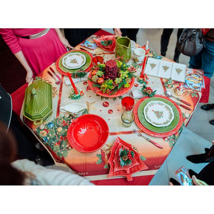 Десертная тарелка Bordallo Pinheiro с елочкой